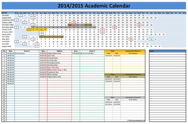 2014  2015 academic calendar