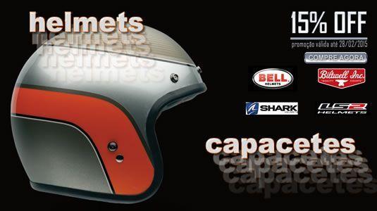 Promoção capacetes 15% Off