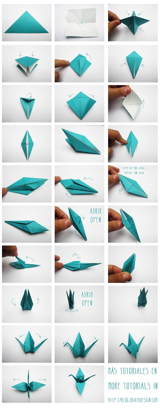 DIY Crafts: Grullas de Origami