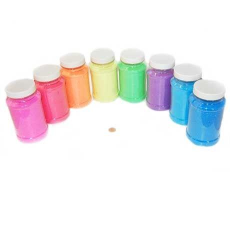 Carnival Savers - Neon Craft Sand Assortment  (8 sand bottles/box) $1.99 each, $15.95 (http://www.carnivalsavers.com/catalog/item/2385165/6825213.htm)