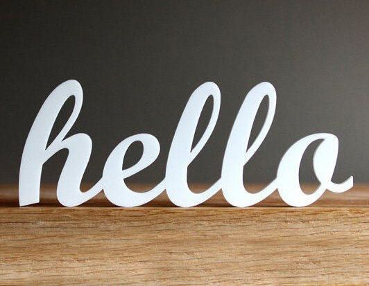 Hello Sign - Wooden Hello Sign - Wood Hello Sign - Wall Decor - Home Decor - Wall Hanging - Hello Beautiful by MonogramsyLetters on Etsy https://www.etsy.com/listing/517511811/hello-sign-wooden-hello-sign-wood-hello