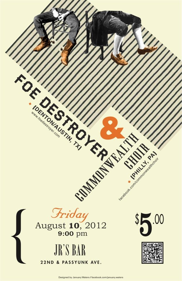Gig poster / flyer   Designed by yours truly!
