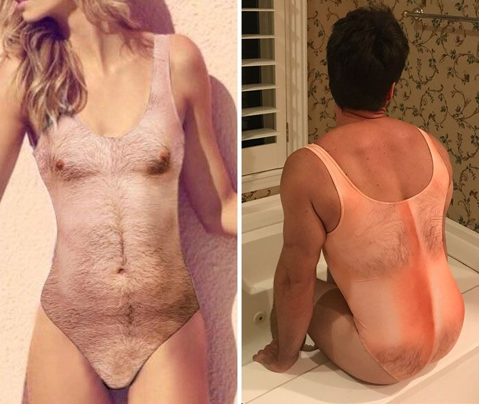 10+ Of The Most Ridiculous Clothing Items That Are Actually Being Sold Right Now-- Hairy Chest Swimwear