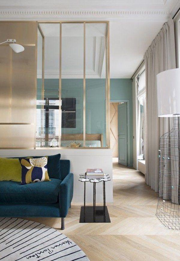 les 331 meilleures images du tableau verrieres d 39 interieur sur pinterest cloisons. Black Bedroom Furniture Sets. Home Design Ideas