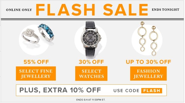 Hudsons Bay Canada Online Flash Sale: Save 55% off Fine Jewellery 30% off Watches & Fashion Jewellery PLUS Ext... http://www.lavahotdeals.com/ca/cheap/hudsons-bay-canada-online-flash-sale-save-55/208447?utm_source=pinterest&utm_medium=rss&utm_campaign=at_lavahotdeals