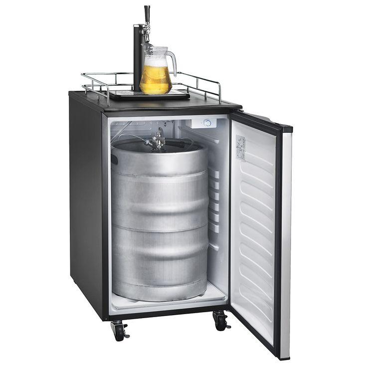stainless steel beer kegerator