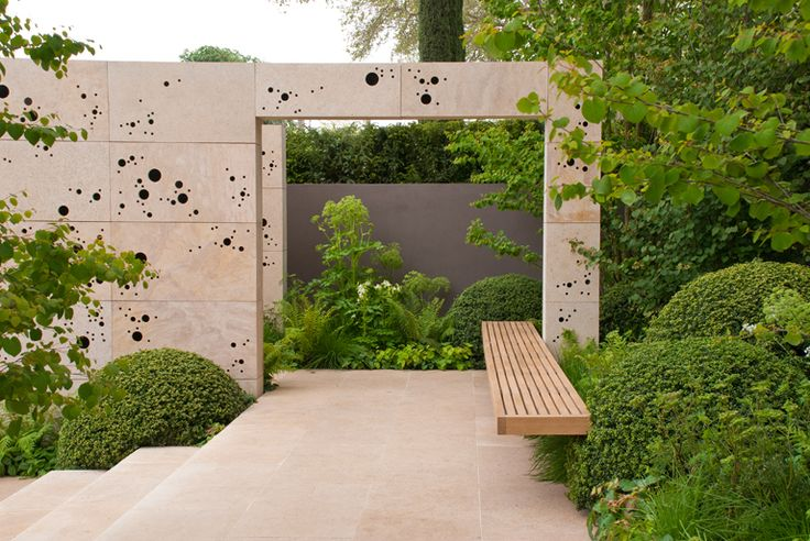 Andy Sturgeon's garden at the 2012 Chelsea Flower Show, blogged here by Lisa Cox:     http://blog.lisacoxdesigns.co.uk/inspiration/chelsea-flower-show-2012-my-favourite-show-garden/