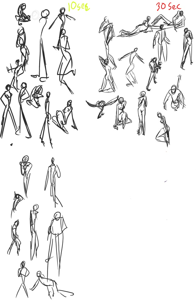 quick gesture drawings