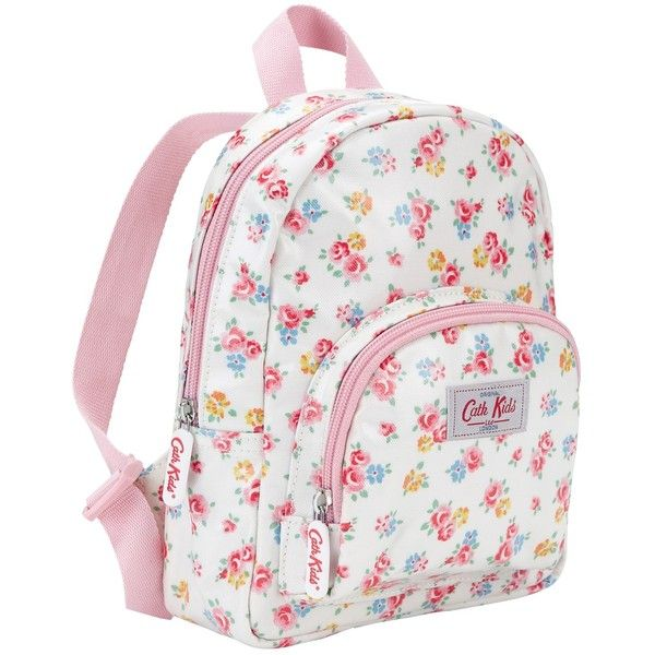 Cath Kidston Freston Rose Rucksack, White/Multi (65 BRL) ❤ liked on Polyvore featuring bags, backpacks, floral print backpack, cath kidston bags, white backpack, white bag and mini rucksack