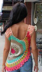 THE BARBRA crochet top - Back