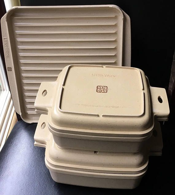 Littonware Casserole Set With Divided Lid Bacon Rack Pan Tray