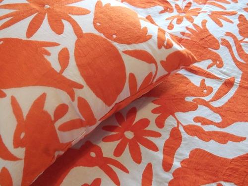 Mandarina Otomi Pillow and Coverlet Set