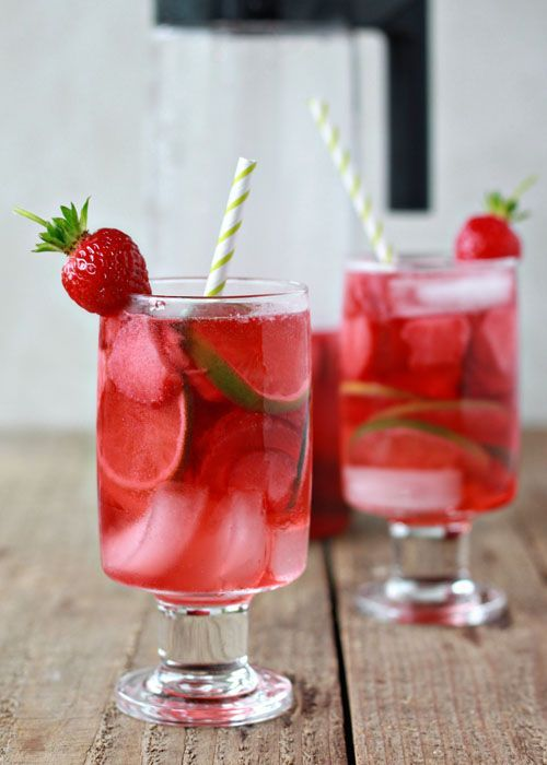 strawberry lime rosé sangria...I want lots of sangria