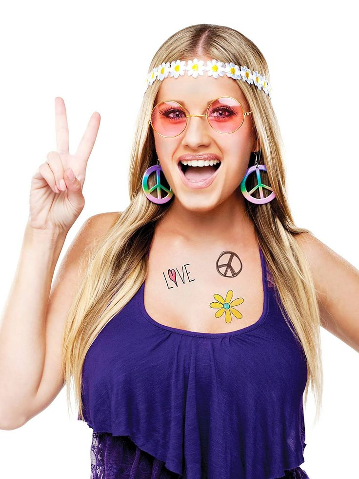 60's Hippie Instant Kit | Halloween Costume Kits Accessories