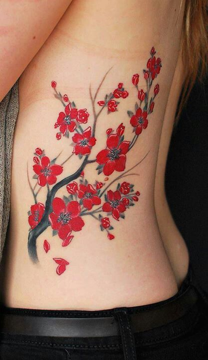 Red Flowers Tattoos