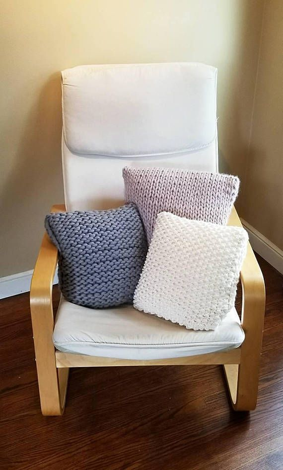 Made To Order Hand Knit Wool Chunky Pillow Cover For