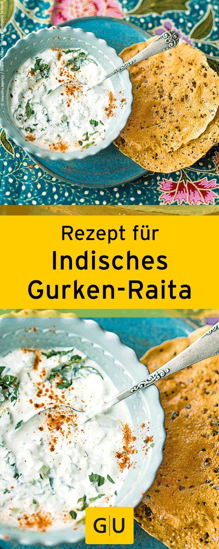 """Rezept für indisches Gurken-Raita aus dem Buch """"Indisch kochen"""". ⎜GU"""
