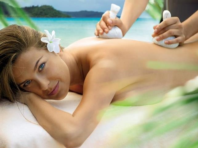 Experience Polynesia. This luxurious treatment begins with the Exotic Island Body Scrub, a gentle vanilla-scented scrub blended with pure Bora Bora white sand, sea salt and crushed coconut shells for a thorough exfoliation. Next is a bath inspired by the crystal blue waters of the Manihi Lagoon to hydrate the skin. The Mahana Massage incorporates a rhythmic Lomi-Lomi massage using warm sand pouches to loosen muscles and nourish the skin. Finally, Polynesian Sacred Oil is applied to the skin.