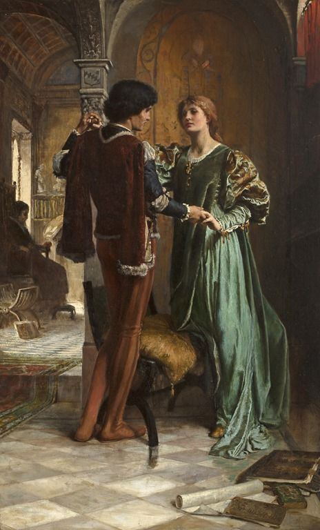 The Betrothal - George Percy Jacomb-Hood (british painter)