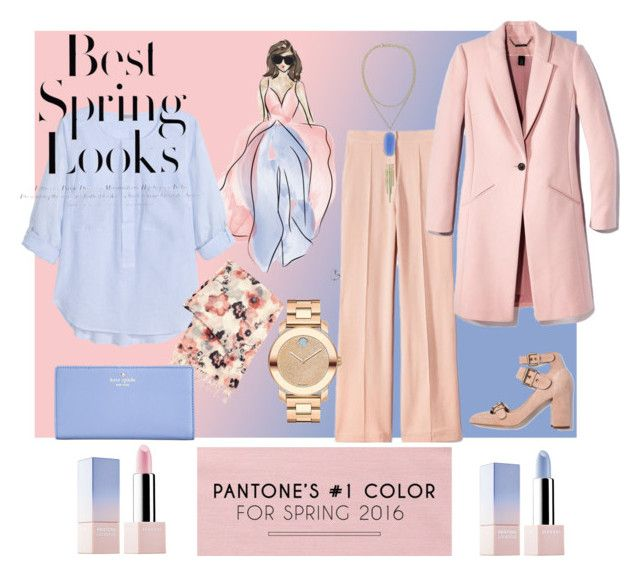 Pantone's Spring Colour 2016 by dressmeup365 on Polyvore featuring H&M, Kate Spade, Movado, Sephora Collection and Pantone Universe