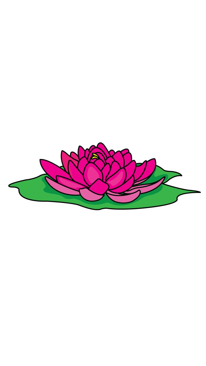 Try to draw this illustration of a beautiful lotus we this for Simple flower drawing tutorial