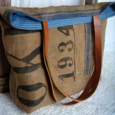 eco-friendly bags made with vintage, reused, recycled, and repurposed materials - I need this.