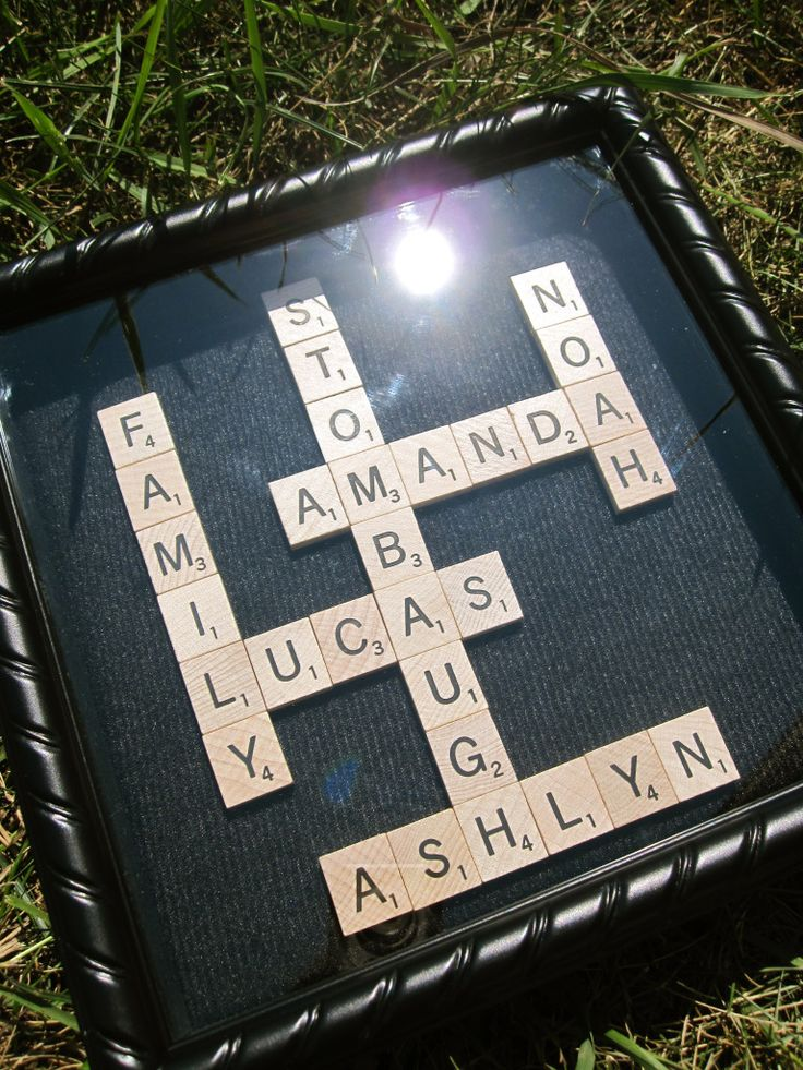 #Scrabble #Crafts #Shadowbox  Makes for a great gift!