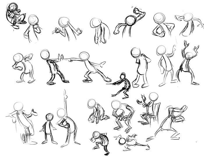 People cartoon sketch