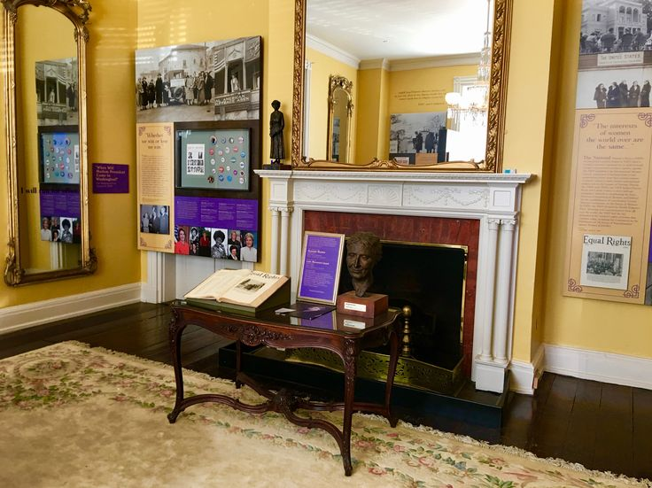The museum exhibits scrapbooks that documented the media attention given to the National Woman's Party.