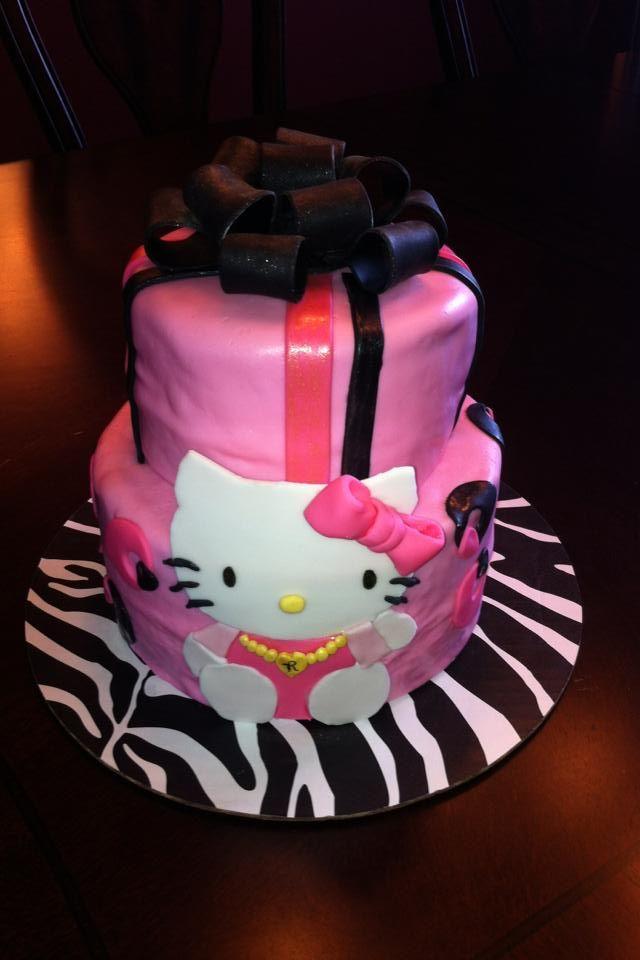Pink Black Cakes