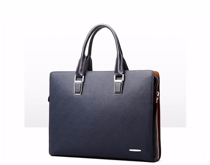 Stylish Leather Laptop Briefcase For Men