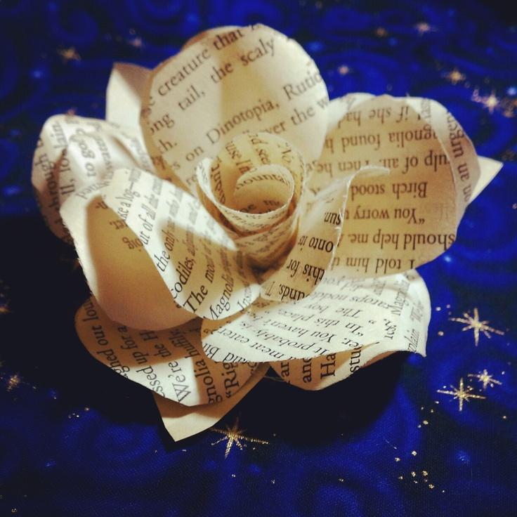The Steampunk Bride: Paper Flowers, Trial run!