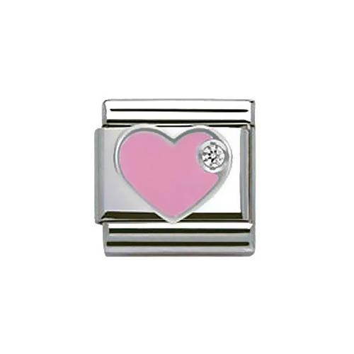 NOMINATION COMPOSABLE CLASSIC ZIRCONIA PINK HEART CHARM £18