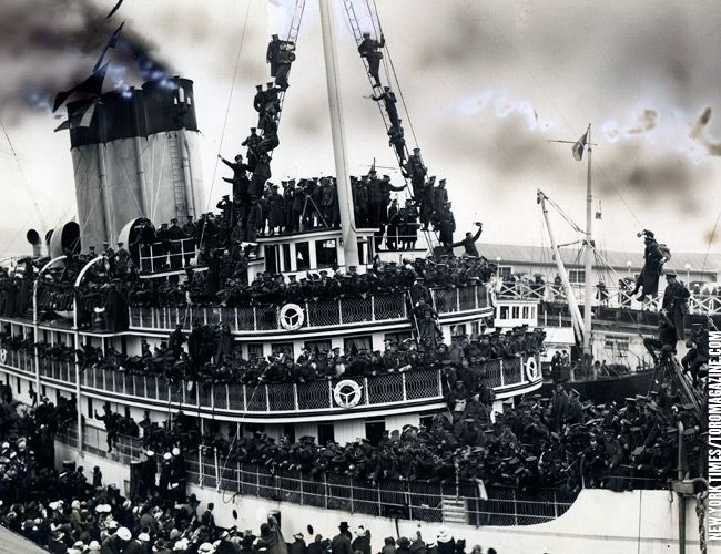 103rd Battalion leaves Victoria on July 15, 1916 for the war in Europe. (It's Remembrance Day every day.)