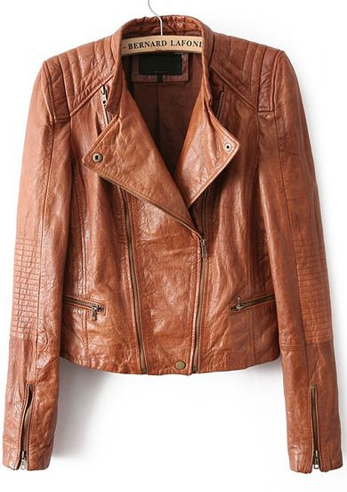 41.67 Yellow Long Sleeve Zipper Crop PU Jacket