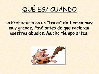LA PREHISTORIA EN INFANTIL by Beatriz Pérez Félix