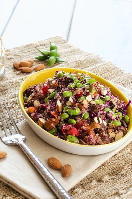 Edamame Quinoa Salad - Cooking Quinoa
