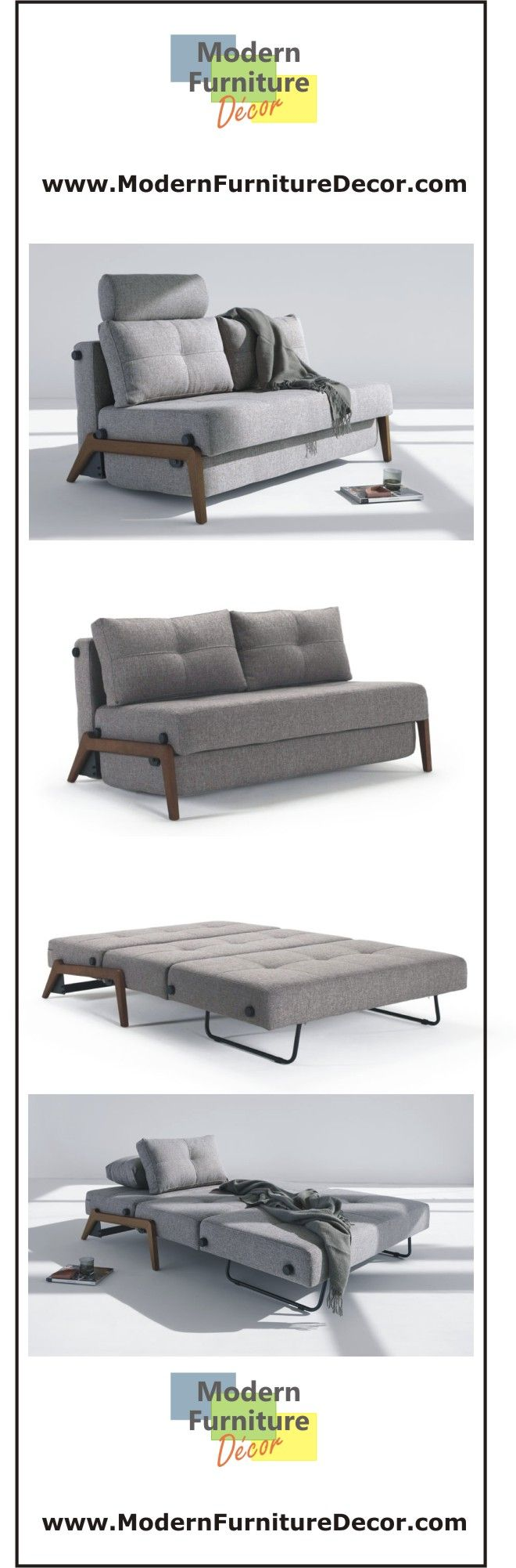The modern Cubed Deluxe Sofa features an innovative, compact sofa bed design. With it's modern space saving design, this queen size sleeper sofa is presentable from all angles.