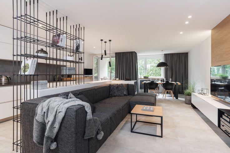 Obývačka s priestrennou sedačkou