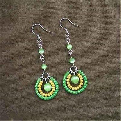 How To Make Seed Bead Earrings  4 Step Making Seed Bead Earrings