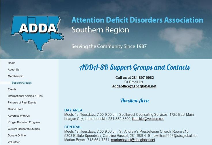 Attention Deficit Disorder Support Group 11