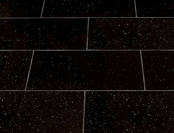 picture of black star galaxy granite