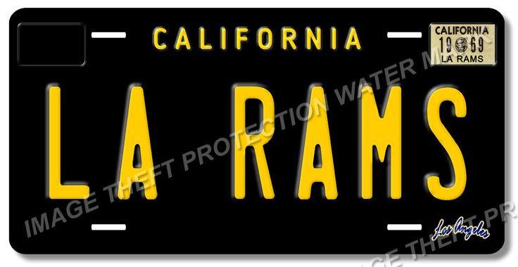 LA RAMS Los Angeles California NFL Football Team Vanity License Plate Tag 5