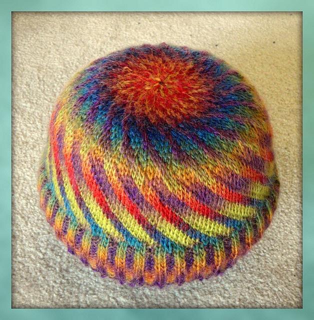 Brain Wave by Chris Abbott -- two colorways of SOFT, WASHABLE minimochi yarn