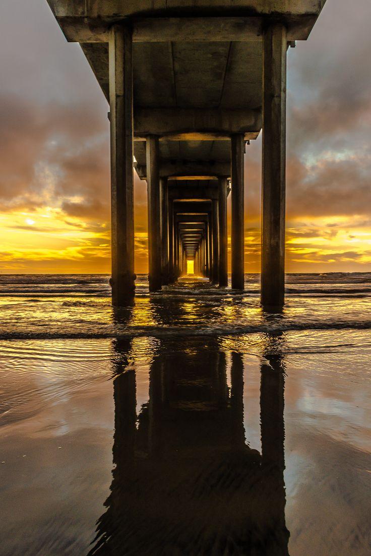 ~~The Pier | sunset, La Jolla, California | by Bon Koo ...