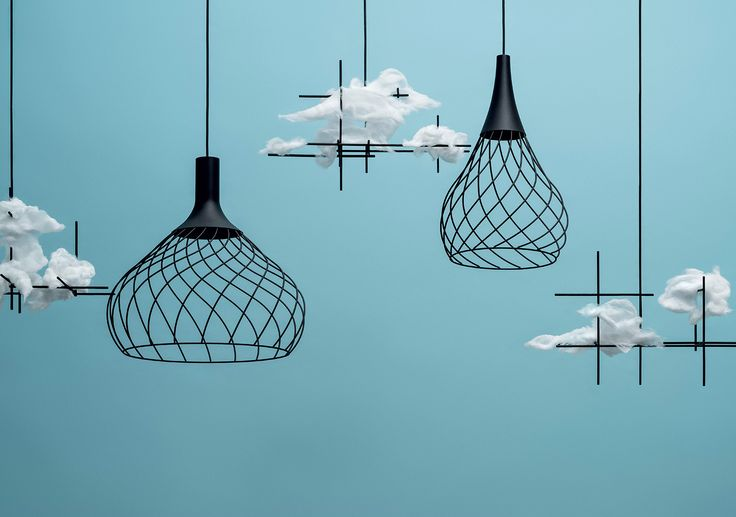Mongolfier - Emerging from the surrounding space, sinuous stems interlace in a light and airy design. #lighting #design