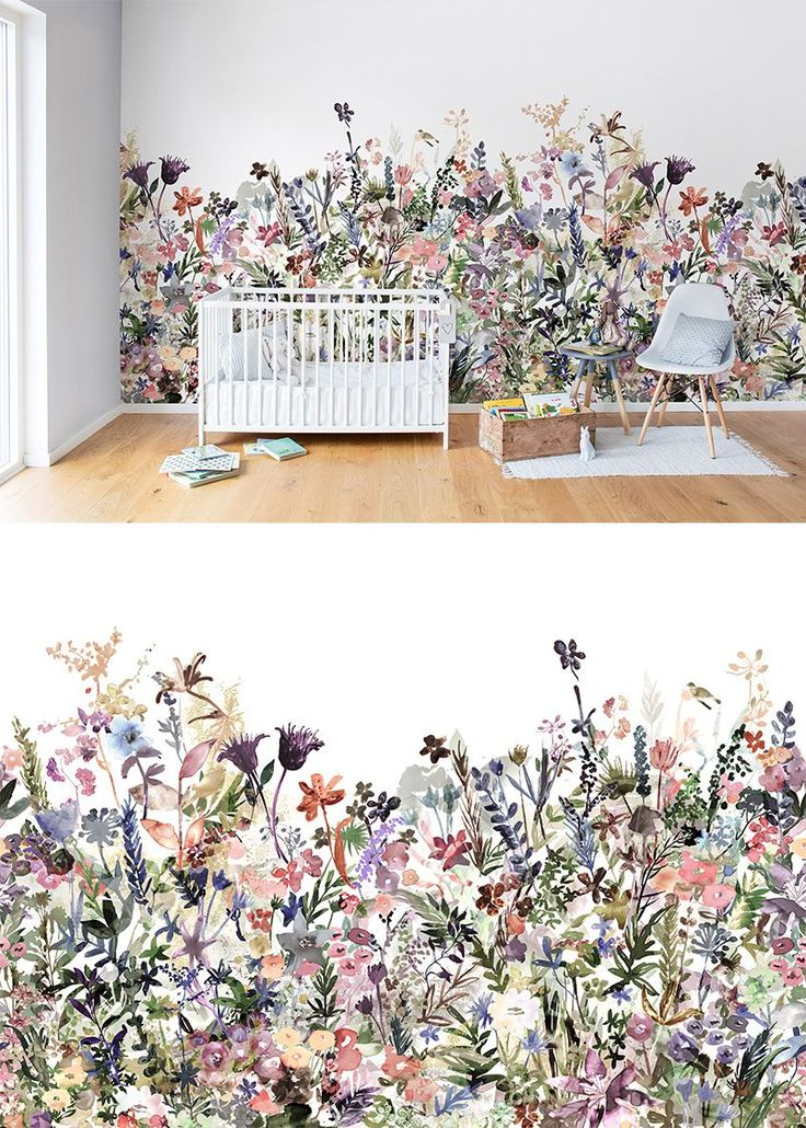 May Meadow, Pastel. Nursery WallpaperKids WallpaperNursery Wall MuralsKids  Room ...