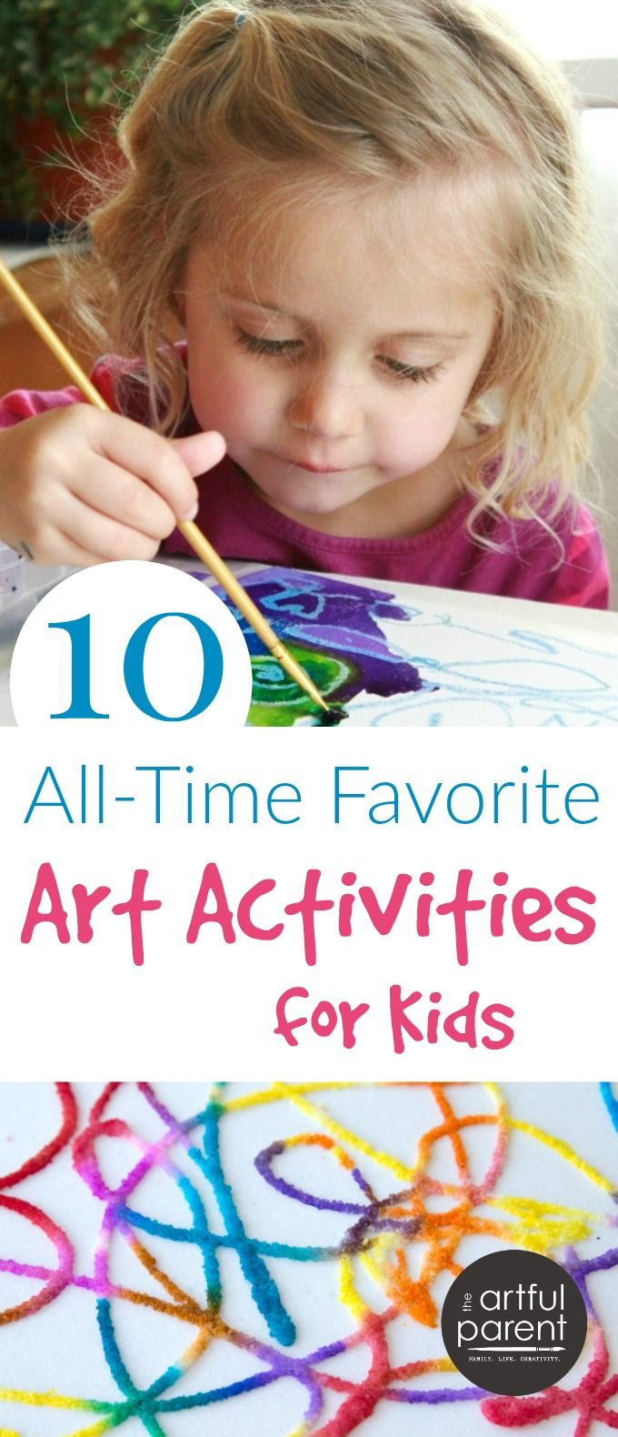 Our top 10, all-time favorite art activities for kids that are fun, open-ended, easy, and look great. Everything on this list is a winner for most ages!