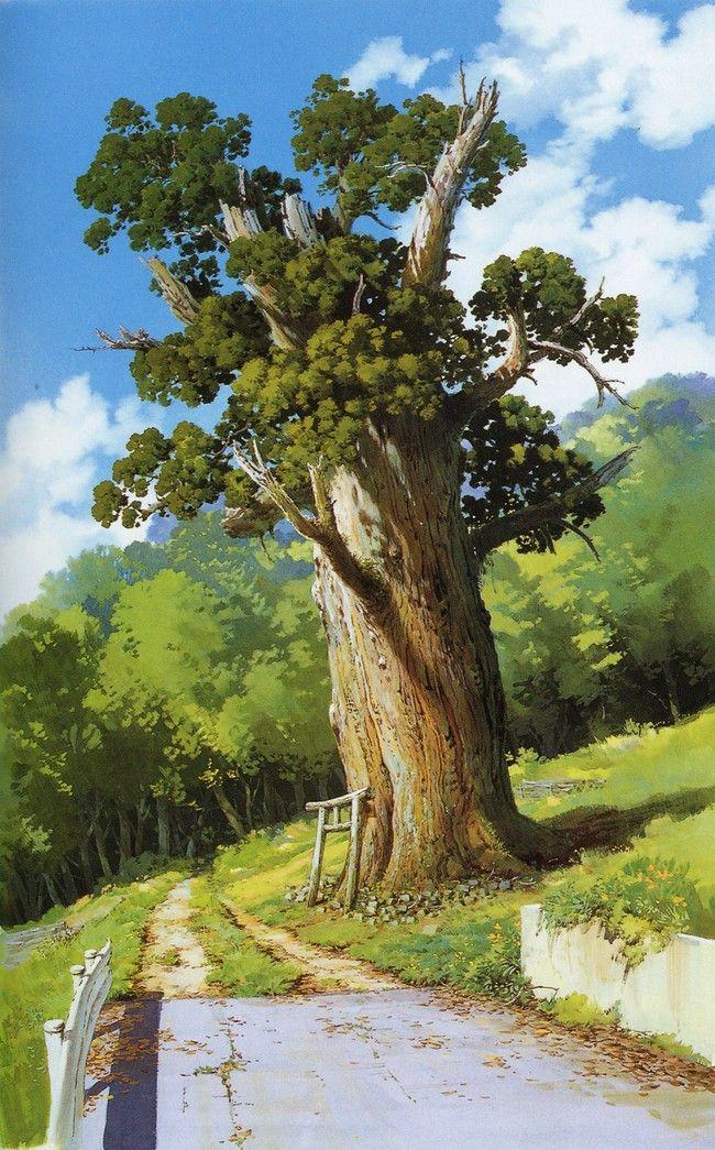Hayao Miyazaki's Beautiful Backgrounds from Spirited Away - una aventura puede comenzar de la manera mas inesperada, pero el que sabe ver puede percibir la magia que nos rodea en ciertos objetos o situaciones que operan como señales.
