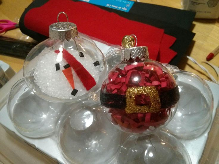 Homemade Christmas Ornaments For Girl Scouts : Glass ornaments handmade by girl scouts and available at